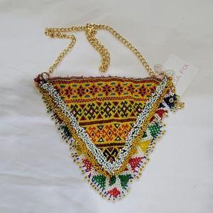 Vintage Handmade Beaded Bag Free People